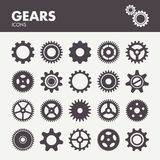Gears and cogs icons set Stock Photo