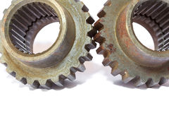 Gears cogs for industry metal Stock Image