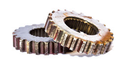 Gears cogs for industry metal Stock Images
