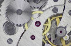 Gears and cogs macro image. Gears and cogs macro close up image royalty free stock image