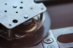 Gears and cogs macro. Sprocket background Stock Images