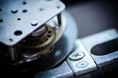 Gears and cogs macro. Sprocket background Royalty Free Stock Photography