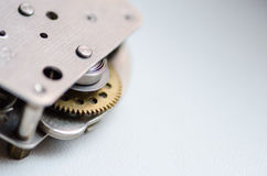 Gears and cogs macro. Sprocket background Stock Image