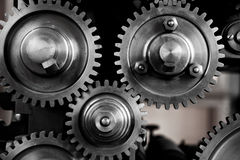 Gears and Cogs - noir. Image of gears and cogs photographed in detail Royalty Free Stock Photography
