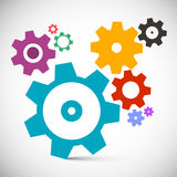 Gears - Cogs Set. Vector Technology Items Royalty Free Stock Images