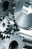 Gears, cogs, titanium and steel Royalty Free Stock Image