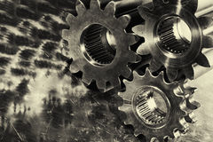 Gears and cogs titanium and steel Stock Photos