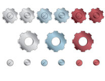 Gears and Cogs. Vector illustrated gears and cogs Stock Photos