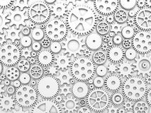 Gears and cogs. White toned background Stock Photography