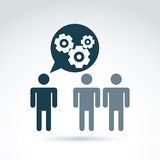 Gears and cogs working team system theme icon, dialog and messag Stock Images