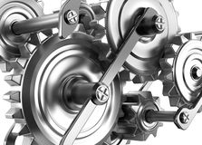 Gears and cogs working together. Reliable mechanism Stock Images
