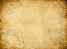 Gears and cogs worn paper background Royalty Free Stock Photography