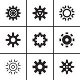 Gears and cogwheel icons set Stock Photo
