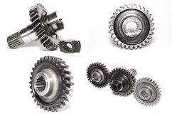 Gears collage stock photo