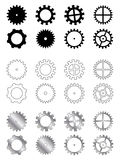 Gears collection. Gears of several types, shapes and colours in a industry related collection royalty free illustration