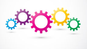 Gears color icon Royalty Free Stock Image