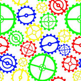 Gears colorful Stock Photography