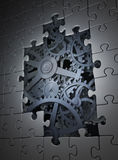 Gears coming out from underneath Royalty Free Stock Photography