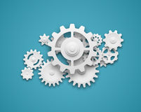 Gears composition background Royalty Free Stock Images