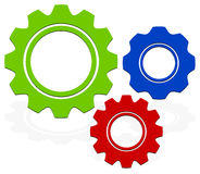 Gears composition Royalty Free Stock Photos