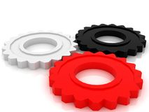 Gears concept. Gears technologi concept 3d model Stock Photo