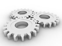 Gears concept. In 3D style Stock Photography