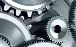 Gears concept background. Machinery industry Stock Image