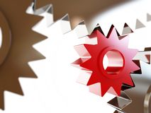 Gears concept background Stock Images