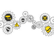 gears concept design Royalty Free Stock Photography