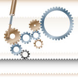 Gears Conveyor Cooperation Teamwork Business Mechanism Backgroun Stock Photo
