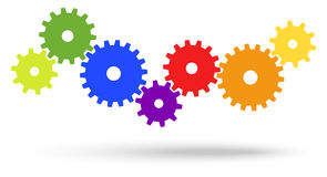 Gears for cooperation symbolism Stock Photo