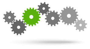 Gears for cooperation symbolism Royalty Free Stock Images