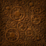 Gears Copper Background Pattern Royalty Free Stock Photos