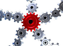 Gears 3d Royalty Free Stock Image