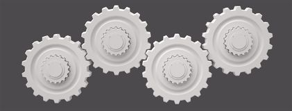 Gears, 3D Royalty Free Stock Photo