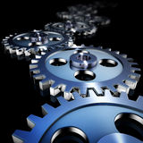 Gears. 3d illustration of running gears Royalty Free Stock Photography