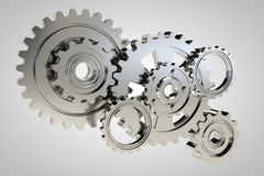 Gears 3d model render Royalty Free Stock Photography