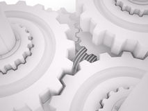 Gears, 3D Royalty Free Stock Image
