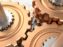 Gears, 3D Royalty Free Stock Images