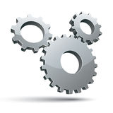 3 gears 3d vector icon. Stock Photo