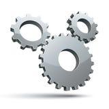 3 gears 3d vector icon. Stock Photo