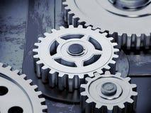 Gears on dark background Stock Image