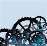 Gears dark blue01 Stock Image