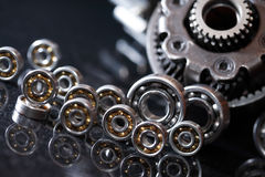 Gears On Dark Stock Image