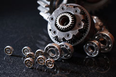 Gears On Dark Royalty Free Stock Photo