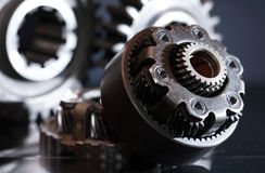 Gears On Dark Stock Photo