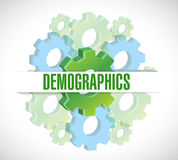 Gears demographics sign illustration Stock Photography