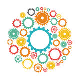 Gears design. Gears graphic design , vector illustration Royalty Free Stock Photo
