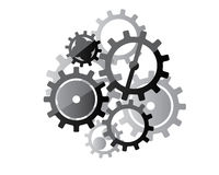 Gears design illustration Royalty Free Stock Photos