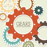 Gears design. Over beige  background vector illustration Royalty Free Stock Photography